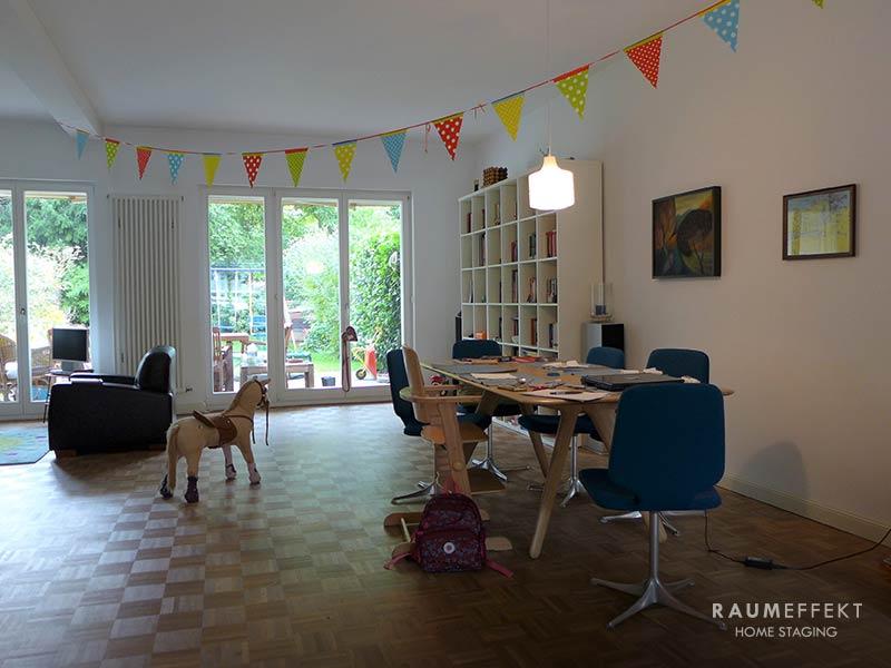 raumeffekt-Home-Staging-bewohnte-Immobilie-Esszimmer-vorher