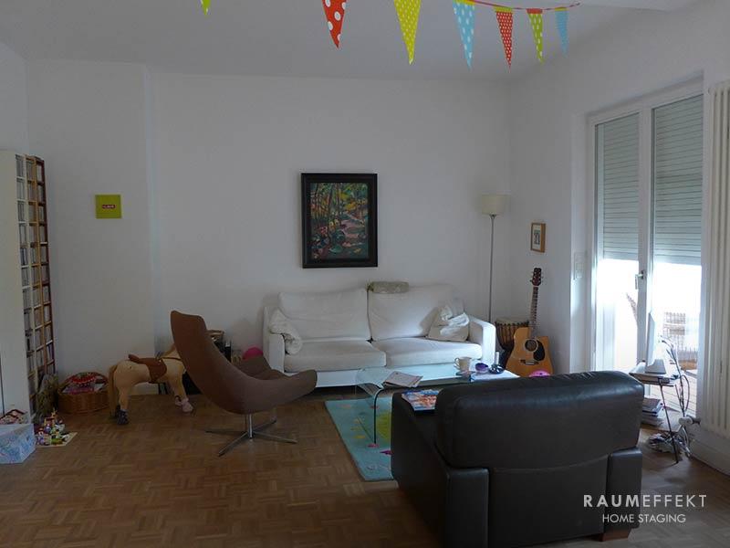 raumeffekt-Home-Staging-bewohnte-Immobilie-Wohnzimmer-vorher